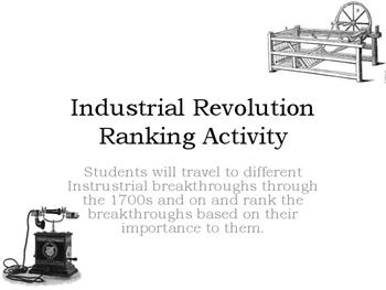 Industrial Revolution Ranking Activity/Writing