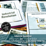Industrial Revolution Readings, Task Cards, and Foldables - Differentiated