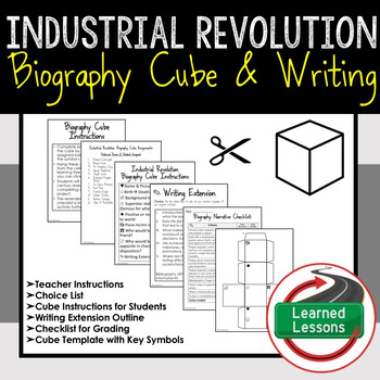 Industrial Revolution Research Cube with Writing Extension Activity Pack