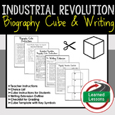 Industrial Revolution Activity Research Cube with Writing Activity