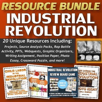 Industrial Revolution Resource Bundle (Projects, Source An