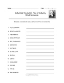 Industrial Revolution Rise of Industry Word Scramble with