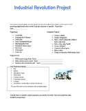 Industrial Revolution STEM/ Project Based learning TEKS