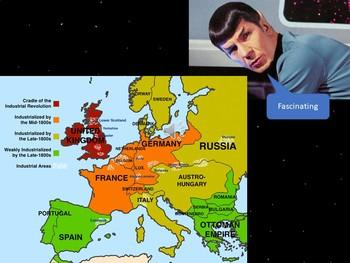 Industrial Revolution Spreads PowerPoint & Worksheet-Star Trek Themed