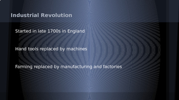 Industrial Revolution - The Beginnings PowerPoint