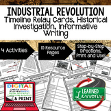 Industrial Revolution Timeline, Investigation, & Writing (Paper and Google )