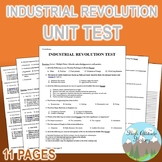 Industrial Revolution Unit Test / Exam / Assessment