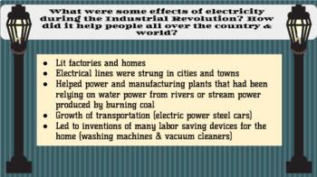 Industrial Revolution Unit - Grade 5