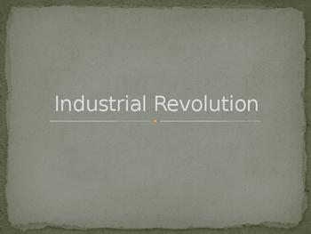 Industrial Revolution Unit Power Point