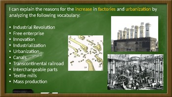 Industrial Revolution Vocabulary / Frayer Model