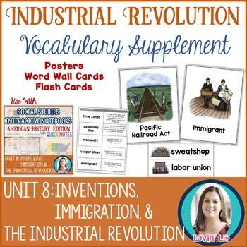 Industrial Revolution Vocabulary Posters, Flash Cards, and Word Wall Cards