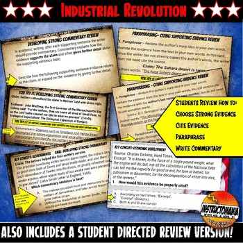 Industrial Revolution Warm-Ups Skill Based, Mini Lessons, Bell Ringer Activities