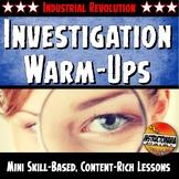 Industrial Revolution Warm-Ups Skill Based, Mini Lessons,