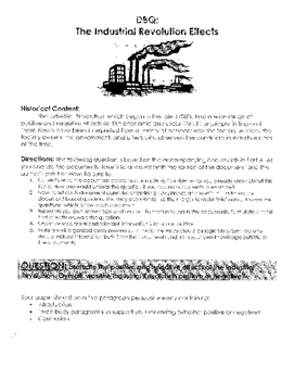 Industrial Revolution: Was it positive or Negative? (DBQ, graphic org., tips)