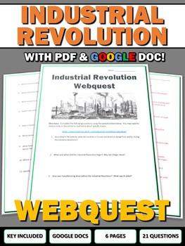 Industrial Revolution - Webquest with Key