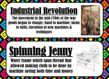 Industrial Revolution Word Wall By A Social Studies Life Tpt