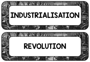 The Industrial Revolution Word Wall Display