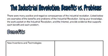Industrial Revolution Work Packet