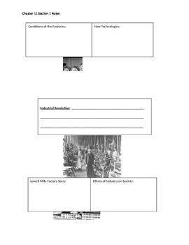 Industrial Revolution Worksheet