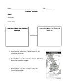Industrial Revolution Worksheet (Chart and Map) with Answer Key