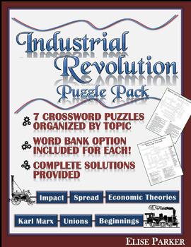 Industrial Revolution Worksheet Puzzle Pack: Industrial Revolution Crosswords