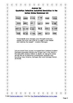 Andrew Carnegie Word Puzzle