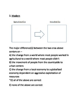 Industrial Revolution and Economics Test - for Respondus (World Civilizations II