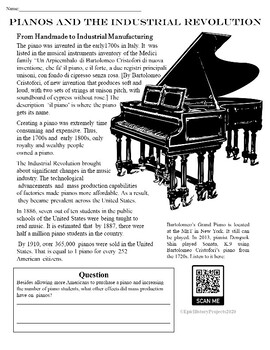 Industrial Revolution and Music Activities & Project
