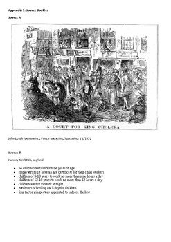 Industrial Revolution essay and sources