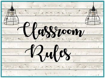 Industrial Vintage Classroom Rules, Growth Mindset and Flexible Seating Posters