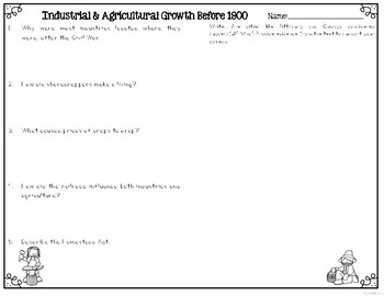 Industrial and Agricultural Growth Before 1900 Leveled Text Reading Passages