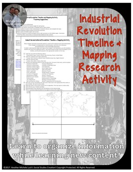 Industrial and Cultural Revolution Timeline and Mapping Research Activity