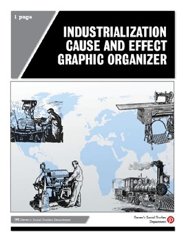 Industrialization Cause and Effect Graphic Organizer