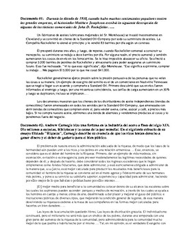 "Industrialization DBQ - ""Robber Barons or Philanthropists?"" {Spanish Version}"