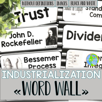Industrialization & Famous Inventors Word Wall w/o definit
