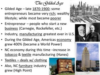 Industrialization, Gilded Age and the Progressive Era PowerPoint