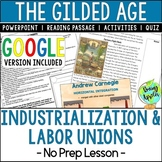 Industrialization & Labor Unions; The Gilded Age; Distance