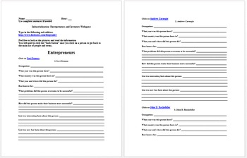 Industrialization Lesson Plan Collection