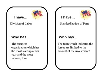 Industrialization Looping Cards