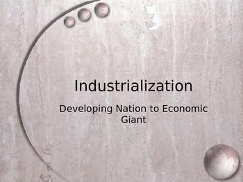 Industrialization Notes Powerpoint