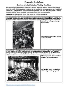 Industrialization & Progressive Bundle: Child Labor,Tenements,Working Conditions