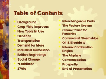 Industrialization & Urbanization - Agricultural & The Industrial Revolution