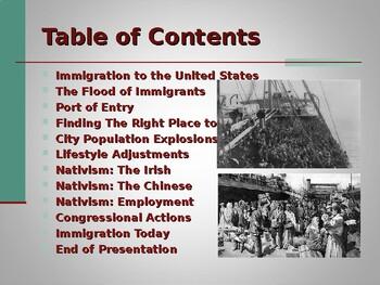Industrialization & Urbanization - Impact of Immigration