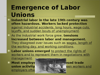 Industrialization & Urbanization - Labor and the Nature of Work