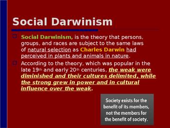 Industrialization & Urbanization - Social Darwinsim