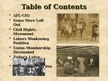 Industrialization & Urbanization - The Labor Movement in the United States