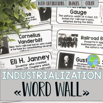 Industrialization Word Wall