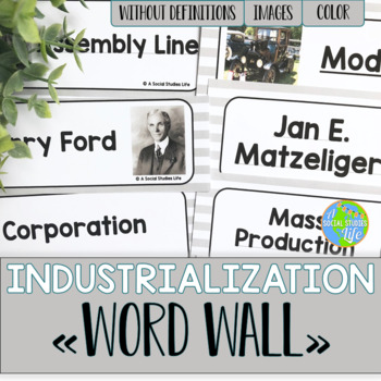 Industrialization Word Wall without definitions