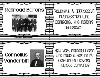 Industrialization and Famous Inventors Flash Cards - Black and White