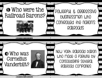 Industrialization and Famous Inventors Task Cards - Black and White